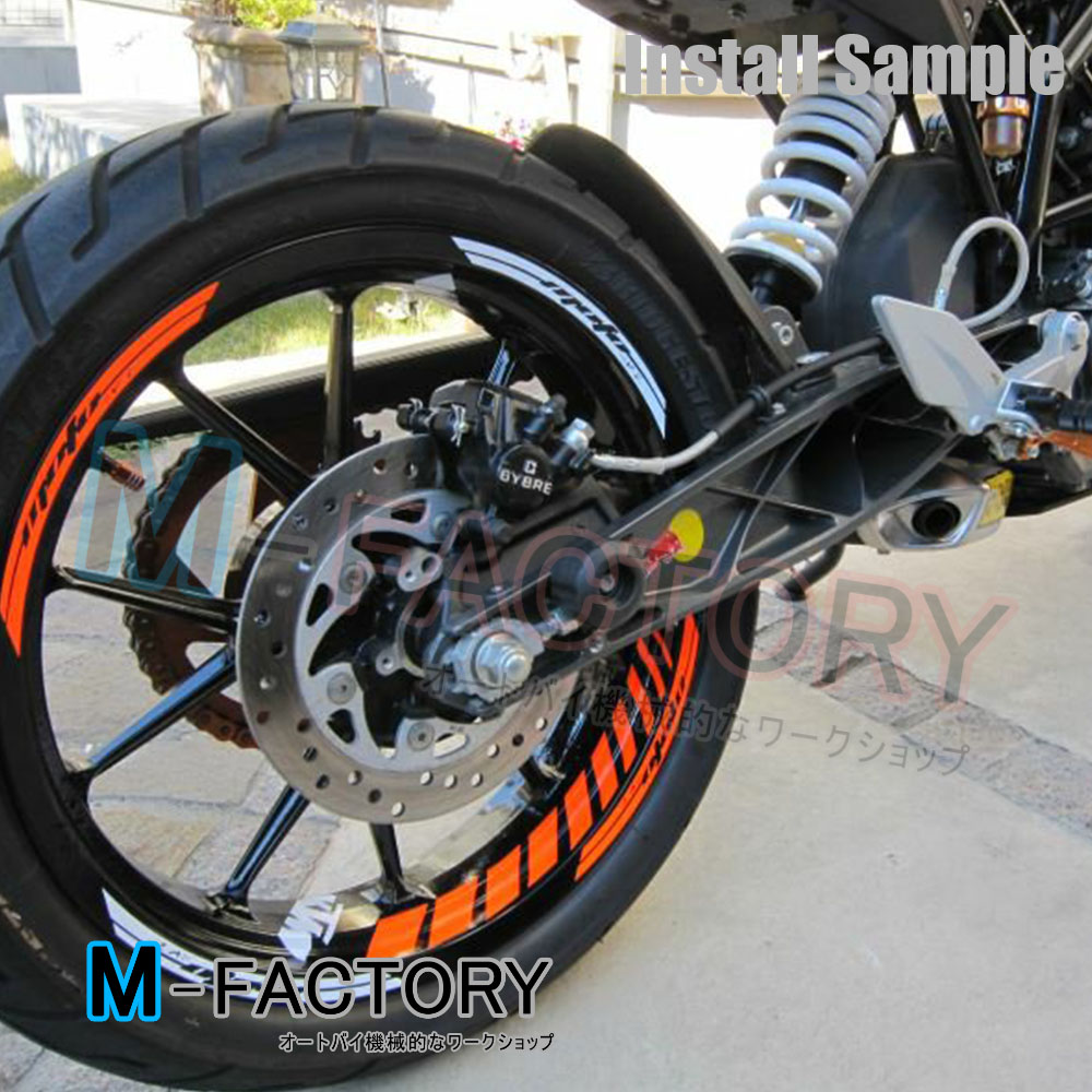 For KTM Motorcycle GP Orange Fluorescent  Wheel Sticker Rim - Stickers for motorcycles suzuki
